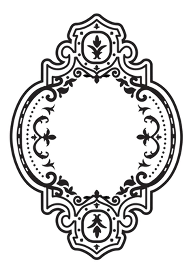 Kaisercraft Baroque Frame Embossing Folder 4