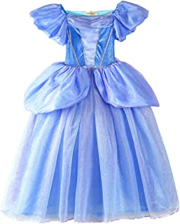 ELSA /& ANNA/® Ragazze Principessa Abiti Partito Vestito Costume IT-Dress 302
