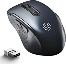 Wireless Mouse, INPHIC Ergonomic 2.4G Wireless Computer Mouse with USB Receiver, 2400 DPI Adjustable, 6 Bottons Cordless M...