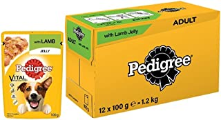 Pedigree Vital Protection Adult Wet Dog Food Food, Lamb in Jelly, 12 Pouches (12 x 100g)