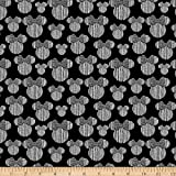 Disney Minnie Heads Black Quilt Fabric (0725064)