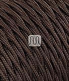 Cavo Elettrico Treccia In Tessuto 5 Mt 2x0,75 Colorato Marrone