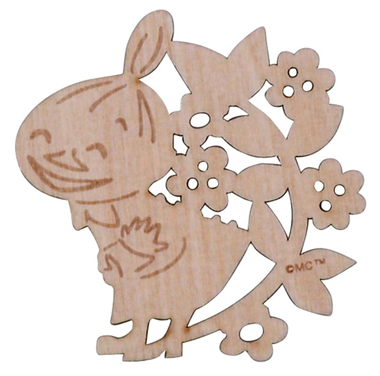 混乱させるぺディカブ懇願するMOOMIN (ムーミン) フローリット 木製 コースター リトルミイ柄 MM962-346