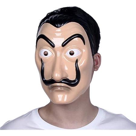 Masque de Salvador Dali réaliste en latex et plastique