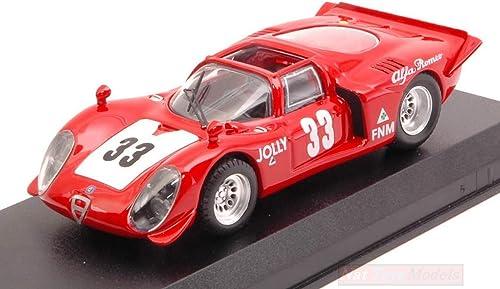 Best Model BT9667 Alfa Romeo 33.2 Spyder N.33 Rio DE Janeiro 1969 C.Pace 1 43 Compatible avec