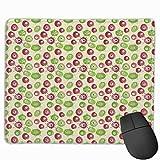 HUAYEXI Stoff Mousepad,Surrealistische Blumenelemente mit runden Formen Schnecke wie Eierformen...