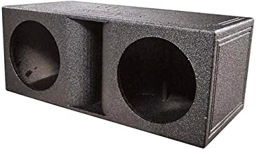 $154 » Qpower QBomb Dual Vented Horn Ported Subwoofer Box Finished with Bed Liner