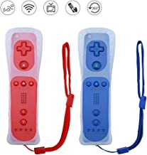 $36 » Lactivx Wii Remote Controller,2 Packs Wireless Gesture Controller with Silicone Case and Wrist Strap for Nintendo Wii Wii U Console (Red and Deep Blue)
