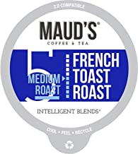 Maud's French Toast Flavored Coffee (French Toast Roast), 60ct. Recyclable Single Serve Coffee Pods – Richly Satisfying Arabica Beans California Roasted, K-Cup Compatible Including 2.0