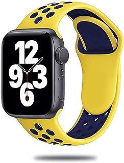 Correa de silicona para Apple Watch Band 44mm 40mm 42mm 38mm Reloj inteligente transpirable Pulsera deportiva para IWatch ...