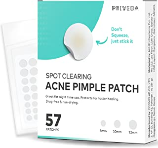 AUUR PRIVEDA Acne Pimple Healing Patch - Absorbing Cover, Invisible, Blemish Spot, Hydrocolloid, Skin Treatment, Facial St...