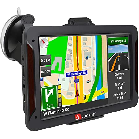 Amazon Com Gps Navigation For Car 7 Inch Car Gps Hd Touch Screen 8gb 256mb Sat Nav For Cars With Usa Canada Mexico Lifetime Map Free Update Gps Navigation