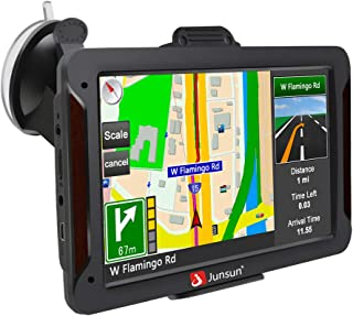 GPS Navigation for Car, 7 inch Touch Screen 8GB 256MB Sat Nav for Cars with USA, Canada, Mexico Lifetime Map Free Update