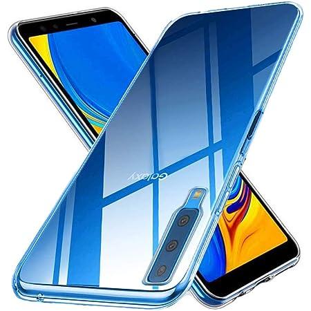 Galaxy A7 ケース 【ZXZone】Galaxy A7 カバー ソフト クリア 耐衝撃 薄型 軽量 透明 TPU ケース (クリア)