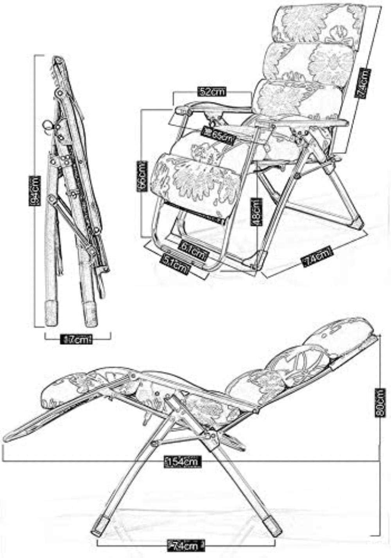 YXB Chaise de Bureau, Chaise Longue inclinables fauteuils chaises Chaise Pliante Pause déjeuner Chaise de Bureau Chaise paresseuse Chaise de Plage Portable Zebra Pad