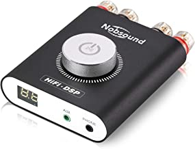 Nobsound NS-20G 200W (100Wx2) Mini Bluetooth Power Amplifier, Multifunctional Hi-Fi DSP Stereo Headphone Audio Amp, LED Display, Power Supply (Black)