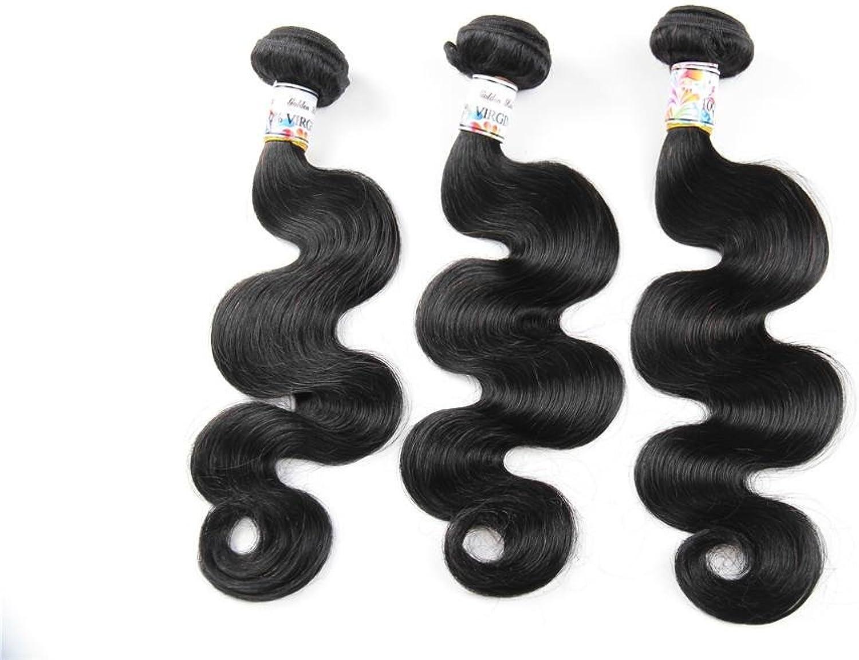en promociones de estadios 100% Brasil Virgen cabello humano humano humano cortina cuerpo Wave cortinas de pelo paquete 3-Pack, Color negro natu 300 g total (100 g cada uno)  nueva marca