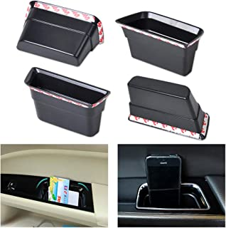 D-Sporting Goods 4Pcs Black Front &Rear Door Armrest Secondary Storage Box Container Holder for Ford Fusion Mondeo 2013-2015