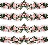 HKD Rosa Artificial vides, Rosas Artificiales, guirnaldas, Flores de Seda for Colgar, la artesanía, decoración del Paquete del Arco for el Hotel, Boda, casa, Fiesta, jardín