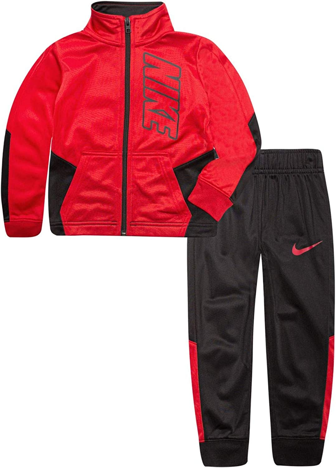 Nike Kids Baby Boy's Color Block Full Zip Hoodie and Jogger Pants Two-Piece Track Set (Toddler)