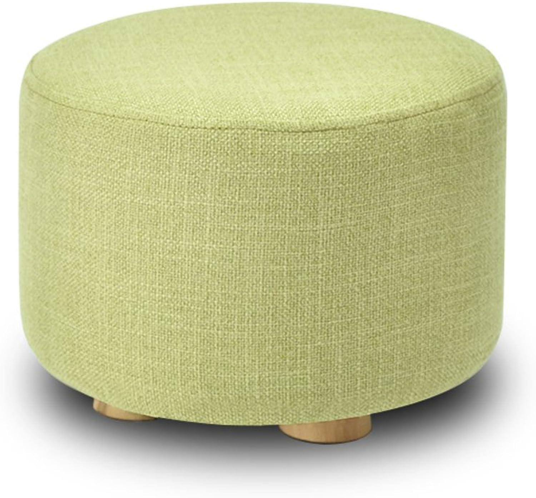 Solid Wood Multifunctional Simple Stool,Multicolor Creative Modern Minimalist Nordic Style Living Room Home Stool-O