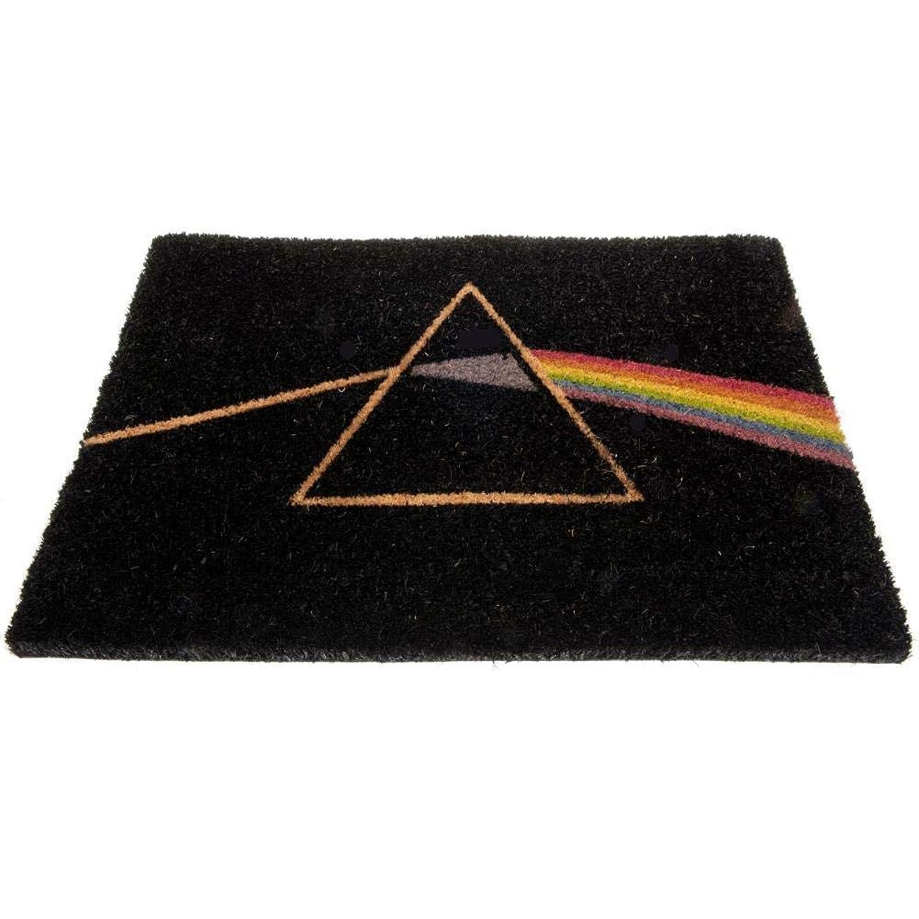 上に築きます英語の授業があります志す(ピンク?フロイド) Pink Floyd オフィシャル商品 ドアマット 泥落とし ラグ 玄関マット (ワンサイズ) (ブラック)