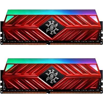 XPG Spectrix D41 DDR4 RGB 3000MHz 16GB (2x8GB) 288-Pin PC4-24000 Desktop U-DIMM Memory Retail Kit Red (AX4U300038G16A-DR41)