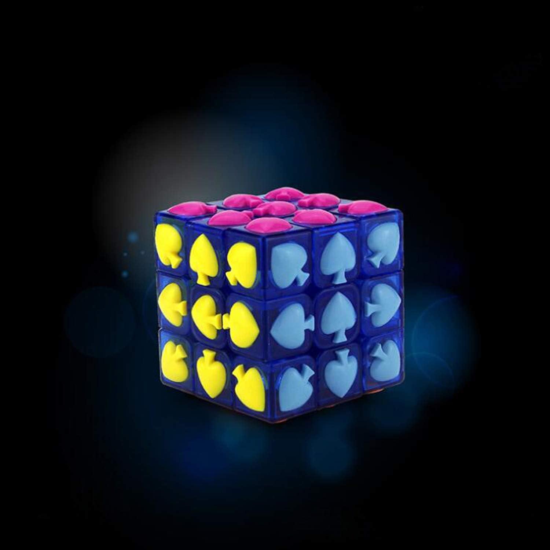 GYFY Cubo di Giftmagic di Natale di San Valentino a Forma di Poker a Forma di Poker,nero,Three
