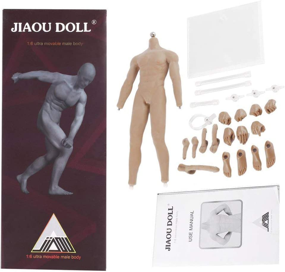 HAOYU TOYS 1//6 Dark Color Male Sports Strong Body Muscle 12/'/' Figure Doll Model