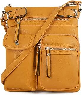 Lightweight Medium Crossbody Bag with Multi Pocket for Women
