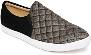 Addons Slip-On Quilted Sneakers Gold