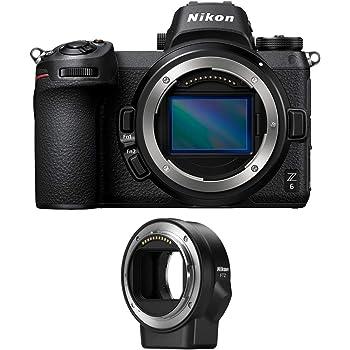 Nikon Z6 Mirrorless Digital Camera with Nikon FTZ Mount Adapter Bundle (2 Items)
