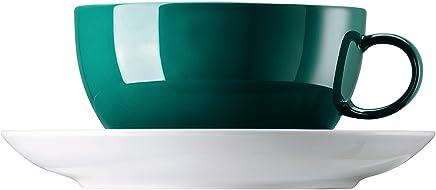 Preisvergleich für Rosenthal-Thomas 10850-408544-14670 Sunny Day Seaside Green Cappuccinotasse 2 tlg.