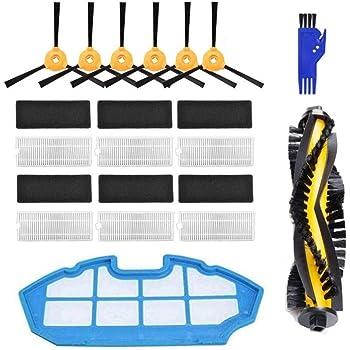 MIRTUX Kit de repuestos Conga Excellence y 990 Excellence. Pack de Accesorios de Recambio para Robots aspiradora Conga con Cepillo Lateral, Rodillo Central, filtros, prefiltro y mopa.: Amazon.es: Hogar