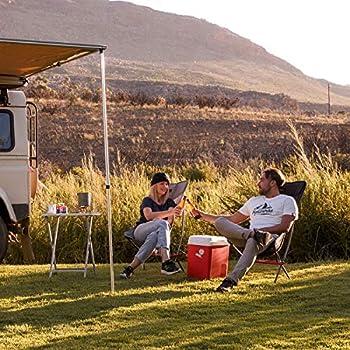 Naturehike La Chaise de Camping Portable Peut contenir jusqu'à 150 kg, est Ultra-légère et Pliable, et Peut être Rapidement assemblée et démontée (Gris L)