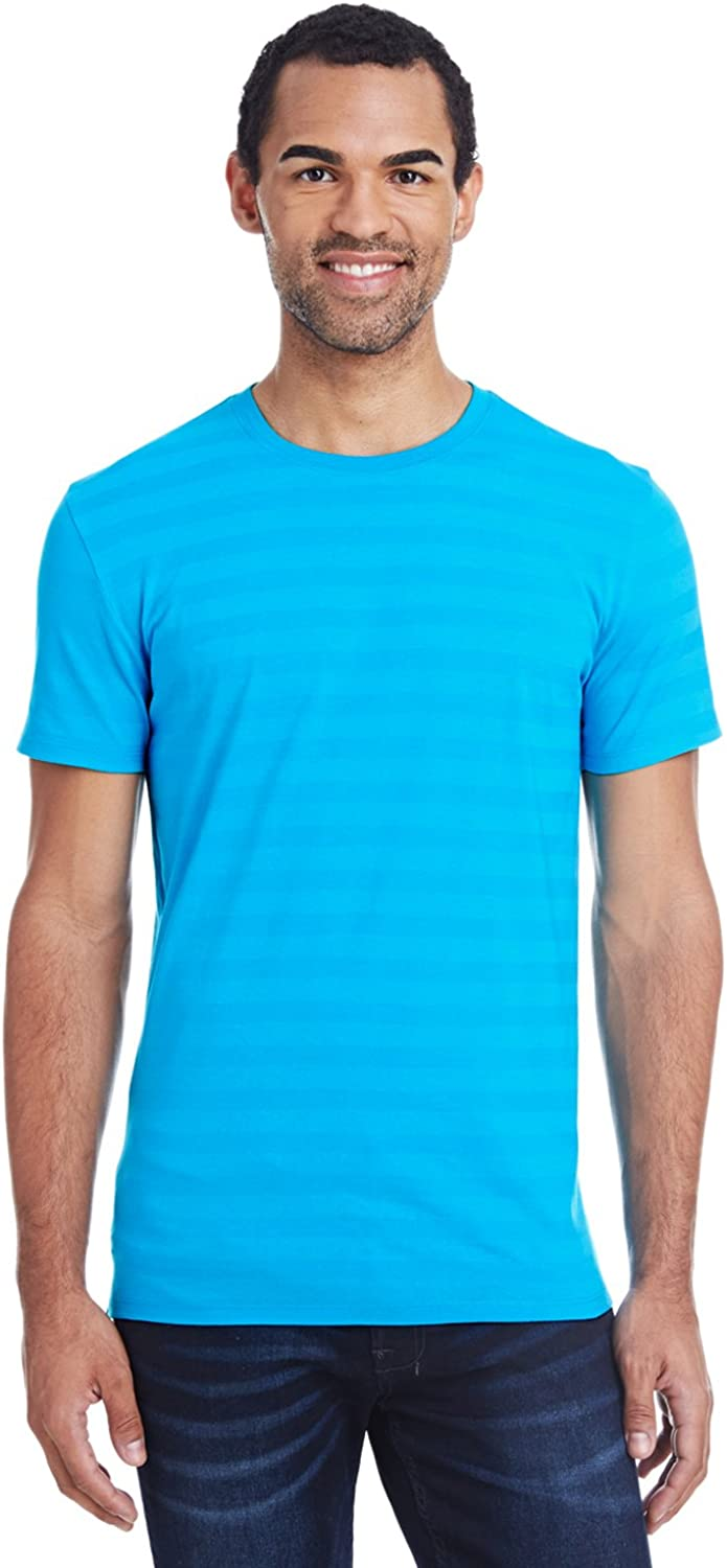 Clementine Threadfast Apparel Invisible Stripe Short-Sleeve T-Shirt (152A)