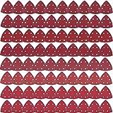 AUSTOR - 80 fogli di carta vetrata triangolari, 6 fori, a grana assortita: 40/60/ 80/120/ 180/240/ 320/400 per levigare e lucidare