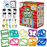 Fun Sandwich and Bread Cutter Shapes for kids - 10 Crust & Cookie Cutters - PLUS 6 FREE Mini Heart &...