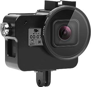 SHOOT Funda Protectora de Aluminio para GoPro Hero 7 NegroFunda de Aleación de Aluminio con Filtro de Lente UV de 52 mm