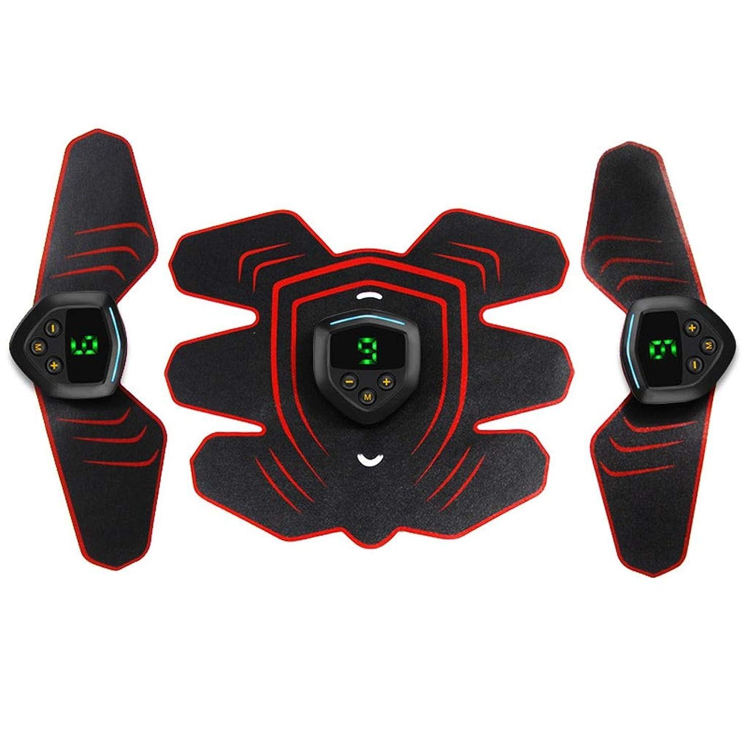 分注する知り合いになるシフト筋肉刺激装置、EMS腹筋トレーナー腹部ベルトUSB充電式筋肉用トナー腹筋腕用脚腹筋サポートベルト (Size : 3 host 1 set of stickers)