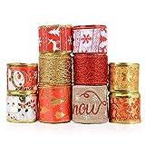 20metros 2mx10rollo Cintas Navidad Decoración Arbol Navidad Embalaje Regalo...