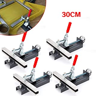 TBVECHI 4 Pcs 30CM Manual Mesh Stretcher Screen Printing Stretching Clamps for Stretch Screen Frame