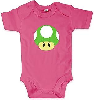net-shirts Organic Baby Body mit Toad Green Aufdruck Spruch lustig Strampler Babybekleidung aus Bio-Baumwolle mit Zertifikat