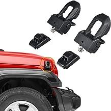 omotor for Jeep Wrangler JLOriginal Stainless Steel Latch Locking Hood Catch Kit fits 2007-2020 Jeep Wrangler JK JL