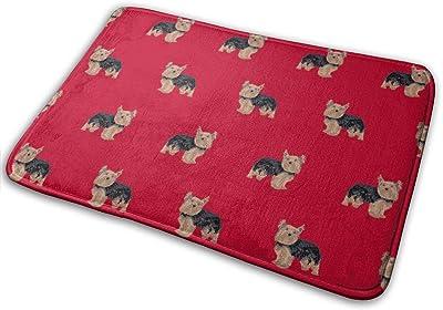 """Yorkie Yorkshire Terrier Dogs - Red_16371 Doormat Entrance Mat Floor Mat Rug Indoor/Outdoor/Front Door/Bathroom Mats Rubber Non Slip 23.6"""" X 15.8"""""""