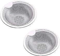 Worcas Coador de pia de metal de malha com 2 peças, filtro de malha de pia de 7,6 cm de diâmetro, filtro de drenagem para ...