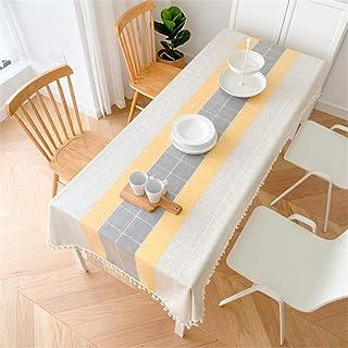 LMWB Bordsskydd, bordsduk, rektangulär bordsduk vattentät och oljesäker engångsbord soffbord bordsduk bomullslinne-B_110 x...