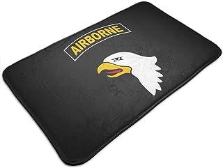 TEIJWETEIJT U.S. Army 101st Airborne Logo Felpudo antideslizante para entrada delantera, alfombra de pasillo, alfombra par...