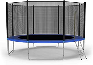 LONABR 10FT 12FT Trampoline Combo Bounce Jump Trampoline with Safety Enclosure Net and Spring Pad