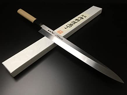 有次 包丁 ARITSUGU 純日本鋼 本焼 柳刃 300mm 青鋼2 築地 柄 名入れ
